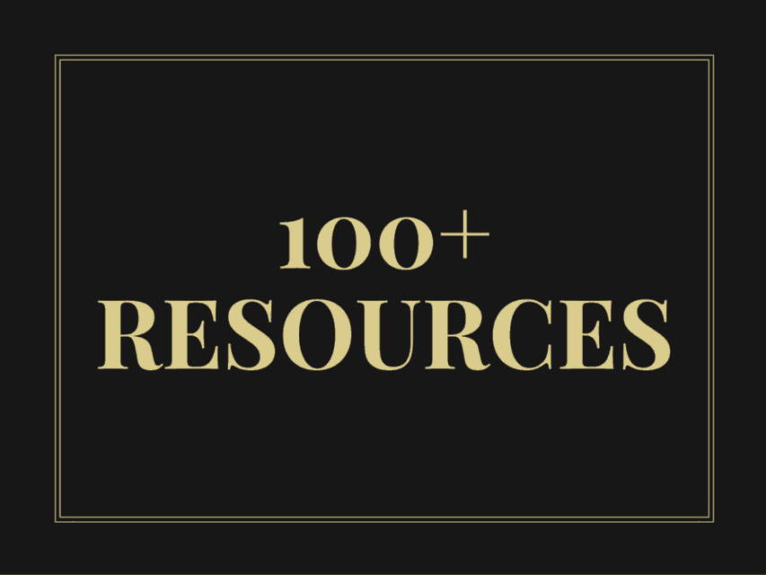 100+ resources