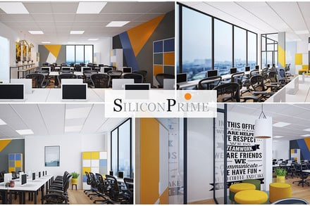 A modern and beautiful office